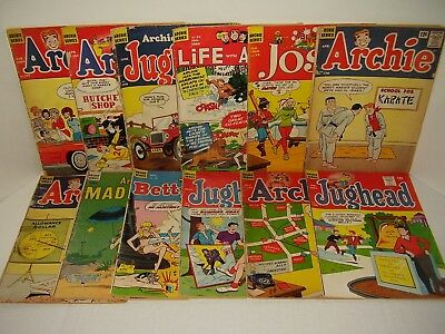 Lot Of One Dozen Archies - Pure Silver-Age - All 12 Cent Issues - Readers