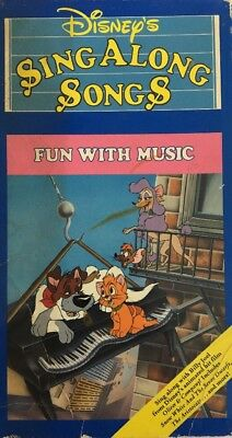 Fun With Music Disneys Sing Along Songs VHS-TESTED-RARE VINTAGE-SHIP N 24 HOURS