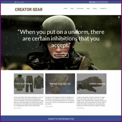 Fully Stocked Dropshipping MILITARY CLOTHING Website Business + Domain