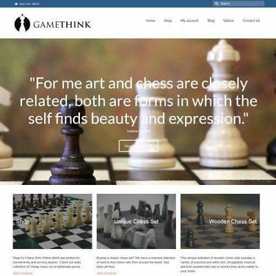 CHESS SHOP - Online Business Website For Sale + Hosting + Domain + Amazon