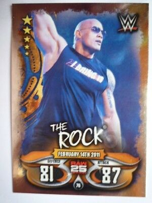 Wwe Topps Slam Attax Live The Rock Raw 25 Card Combine Postage