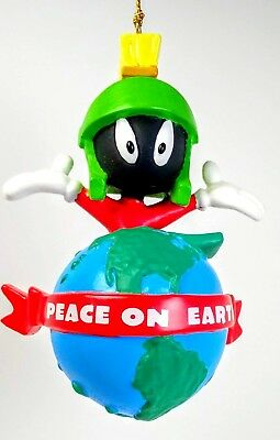 Warner Bros Marvin the Martian Ornament Peace On Earth 1998