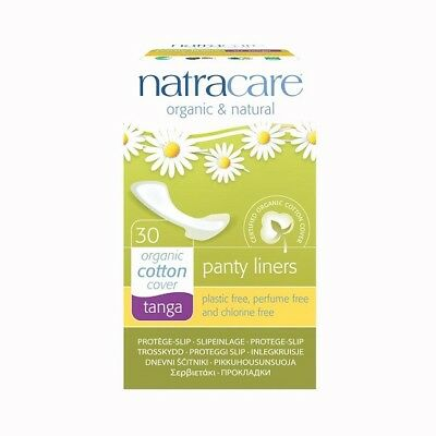 Natracare Organic & Natural Panty Liners Tanga Cotton Cover - 30 Liners