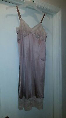 Vanity Fair Taupe Color Lace Bodice Slip - Size 34L - Gently Worn!!!