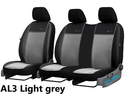 Vw Transporter T5 T28 2003-2015 2+1 Eco Leather & Alicante Tailored Seat Covers