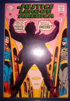 Dc Comics Justice League Of America #65 1968 2Nd Appearance Of S.a. Red Tornado
