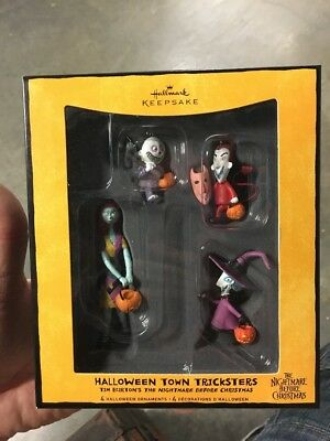 Hallmark Ornament Halloween Town Tricksters The Nightmare Before Christmas READ