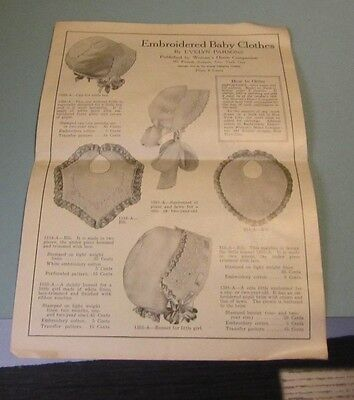 1917 Embroidered Baby Clothes Evelyn Parsons Advertising Catalog Bonnets Pillows