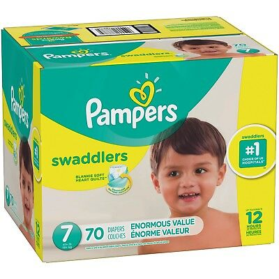 Pampers Swaddlers Diapers Size 7, 70 Count