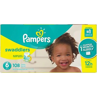 Pampers Swaddlers Diapers Size 6, 108 Count