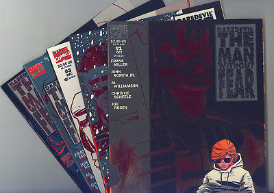 Daredevil Man Without Fear Complete Set of 5 (#1-5) NM/NM+ Romita, Miller, Foil