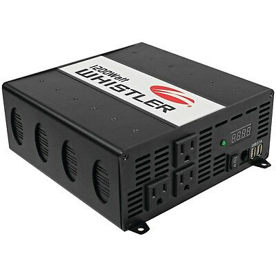 Continuous Power Inverter XP Series 1,200 Watts With 2 USB Ports & 3 AC Outlets