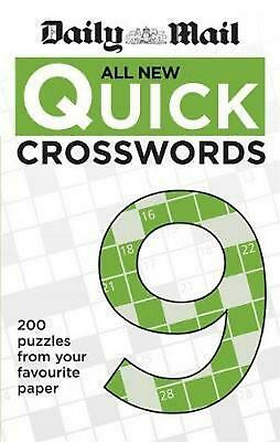 Daily Mail All New Quick Crosswords 9 by Daily Mail Paperback Book Free Shipping