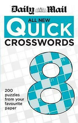 Daily Mail All New Quick Crosswords 8 by Daily Mail Paperback Book Free Shipping