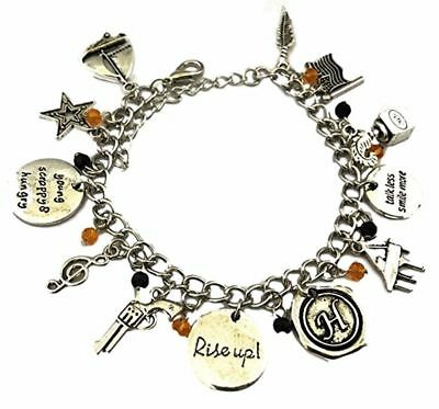 Broadway's Hamilton Musical 11 Themed Charms Silvertone Charm Bracelet