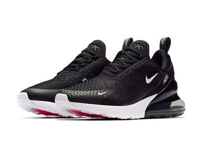 Nike Air Max 270 Black Anthracite and White Oreo Solar Red AH8050-002 Sz 11.5 US