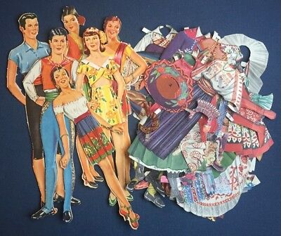 Vintage paper dolls Good Neighbor, from 1944