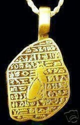 NICE Gold Plated over Sterling silver Egyptian Egypt Bast Cat pendant charm Jewe