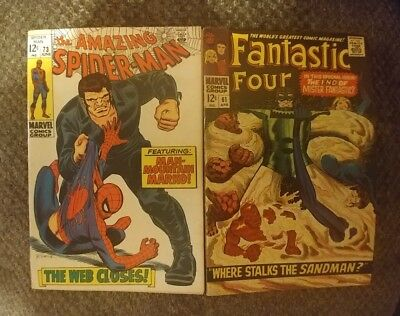 Vintage The Amazing Spider-Man #73 and Fantastic Four #61!