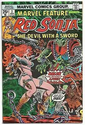 Marvel Feature #3 (Marvel, 1976) – Red Sonja – She-Devil With A Sword! – VF+