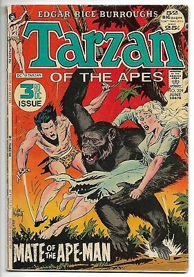 Tarzan #209 (DC, 1972) – 52 Pages – Joe Kubert Cover – 3rd DC Issue – VG/FN