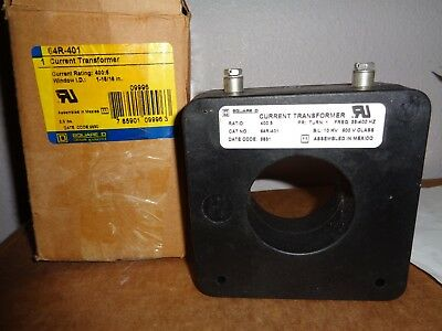 """SQUARE D Current Transformer 64R-401 NEW 64R401 400:5 Opening 1 15/16"""" 1 Phase"""