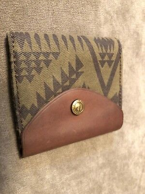 Pendleton Wool and Leather Wallet Button Southwestern great gift!