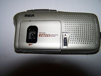 RCA RP3538-B Handheld Micro Cassette Voice Recorder, Tested, Works!