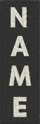 """Custom Embroidered 4/""""x 2/"""" Name Tag 3 LINES Patch With VELCRO® Brand Fastener #13"""