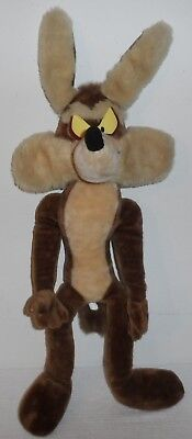 "Large vintage 32"" Wile E Coyote Plush Looney Tunes Warner Bros"
