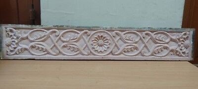 Wall Panel Antique Wooden Hand Floral Carved panel Home Door Decor Estate V Rare