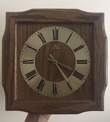 Vintage Top Quality Meister Anker wooden Quartz Wall Clock