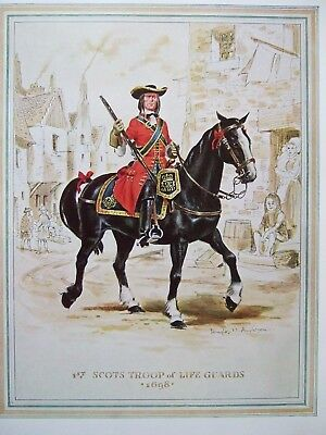 Military Print- Ist Scots Troop Of Life Guards 1698 - By Douglas N Anderson