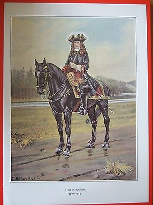 Military Print- Officer ,train Of Artillery 1702-1714  By R J Macdonald