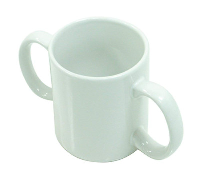 Aidapt Two Handled Ceramic Mug Cup for Users with a Weak Grip