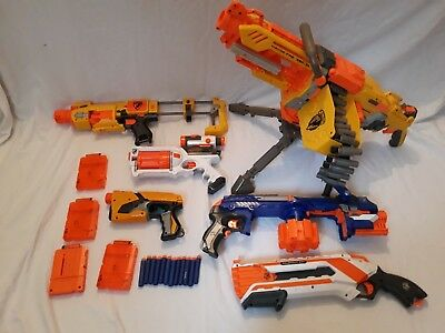 HUGE Nerf Gun Bundle Havok Many Guns Bundle N Strike Elite Motorised