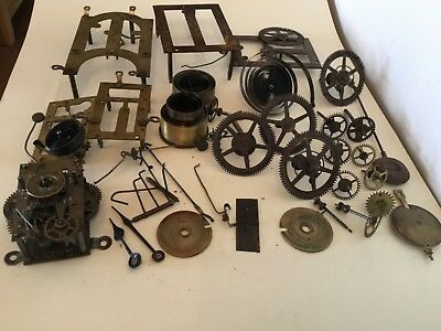 Vintage  Clock Parts Movements Workings  Steampunk