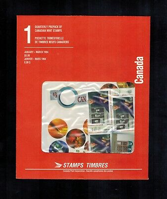 Canada Stamps 1994 Jan-March Quarterly Pack Sealed FV $8.00+