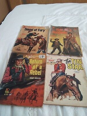 Vintage western story and comic books