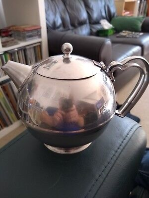 Old Hall Cottage Pattern Retro 1 Pint Stainless Steel Teapot