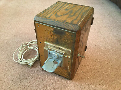 Vintage coin box for coin operated ORCHESTRION