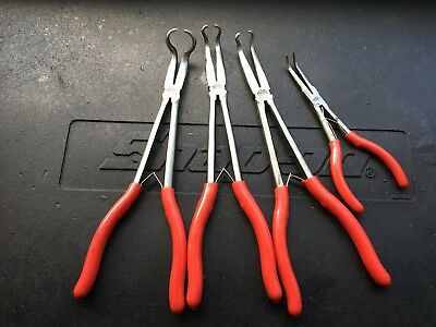Mac Tools 3pc Long Reach Hose Gripper Pliers Set + Mini Long Reach Pliers