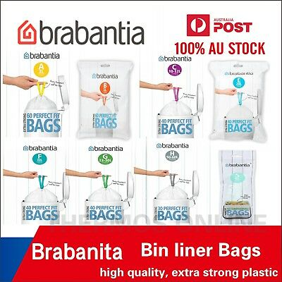 Brabantia Bin Liner Waste Bags, Strong Quality, All Size Available Best Price!