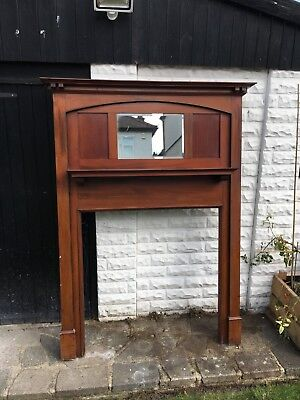 Fireplace Fire Surround Mantelpiece. Vintage Solid Wood 1930s