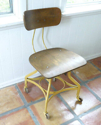 1920s ANTIQUE-Industrial-Toledo-UHL-Drafting-Stool-Chair PICK UP BOULDER CO ONLY