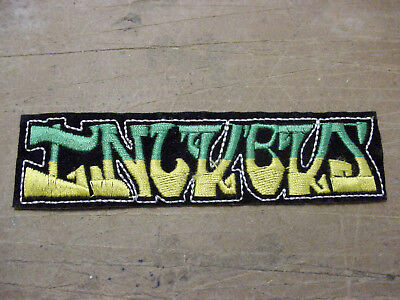 LOT 2 VINTAGE INCUBUS Patch Sew Iron On Embroidered Rock Band -90's HEAVY METAL