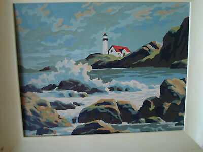 Mid Century Paint By Number Seascapes