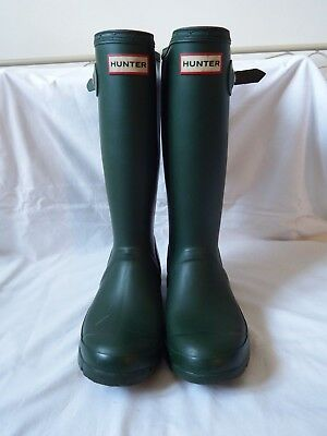 HUNTER green wellies with Neoprene lining U.K.4/EURO37,little use,see pictures.