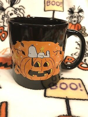 Peanuts Halloween Snoopy The Great Pumpkin Ceramic Coffee Tea Mug Cup New