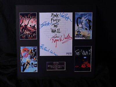 pink floyd the wall postcard and photo presentation  non framed
